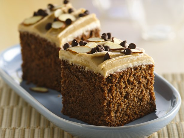 Chocolate Snack Cake with Creamy Butterscotch Frosting