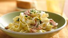 Lemony Salmon Fettuccine Recipe