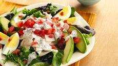 Individual Chicken Cobb Salads with Blue Cheese Dressing Recipe