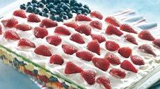 Layered Fruit Flag Salad Recipe