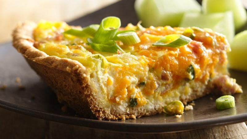 Ham, Pineapple and Cheddar Quiche