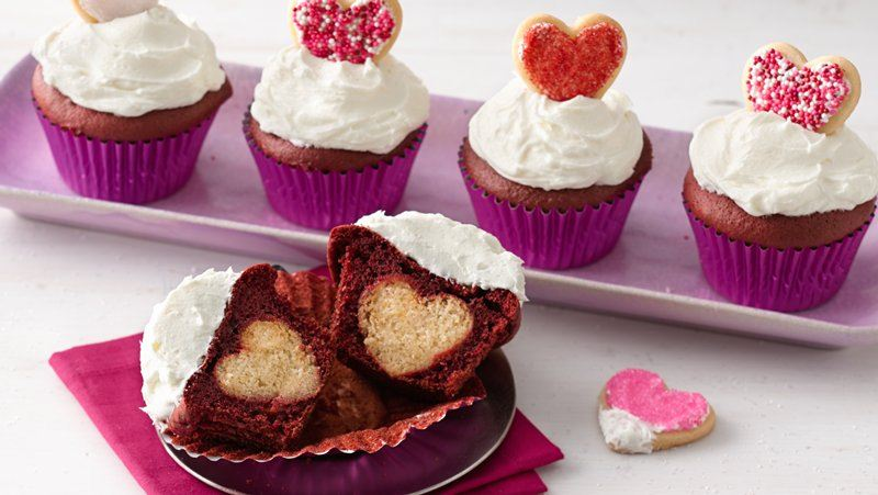 Surprise-Inside Valentine's Cupcakes