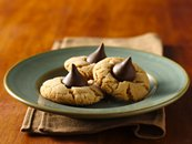 Chocolate Candy-Peanut Butter Cookies