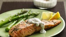 Grilled Salmon with Lemon-Dill Sauce Recipe