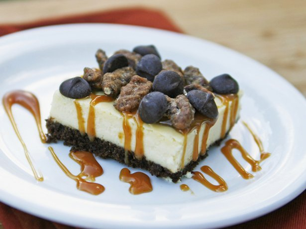 Turtle Cheesecake Squares