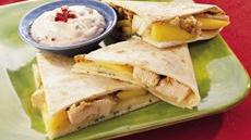 Chicken and Monterey Jack Cheese Quesadillas Recipe