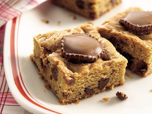 Chocolate-Stuffed Peanut Butter Brownies