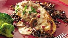 Chicken Breasts with Wild Rice Alfredo Recipe