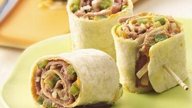 Beef and Swiss Roll-Ups