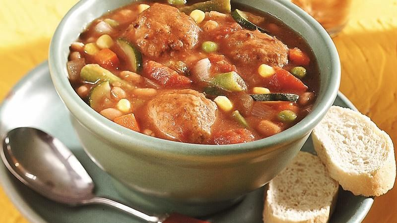 Slow-Cooker Meatball-Bean Stew