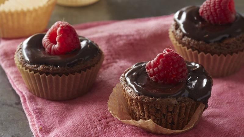 Gluten-Free Chocolate Raspberry Mini Tarts