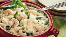 Asparagus, Shrimp and Shells Bake Recipe