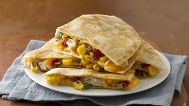 Honey Roasted Corn & Chicken Quesadillas