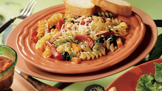 Rotini with Sweet Potato Sauté