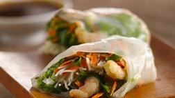 Gluten Free Shrimp Summer Rolls with Dipping Sauce
