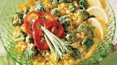 Broccoli and Corn in Gingered Curry Cream Recipe