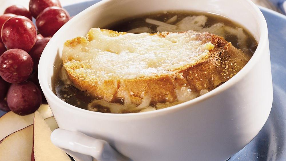 Quick Onion Soup Gratinée