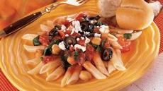 Mediterranean Penne Pasta and Beans Recipe