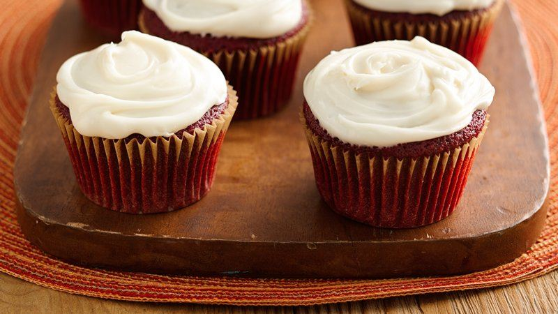 Skinny Red Velvet Cupcakes with Cream Cheese Frosting recipe from ...