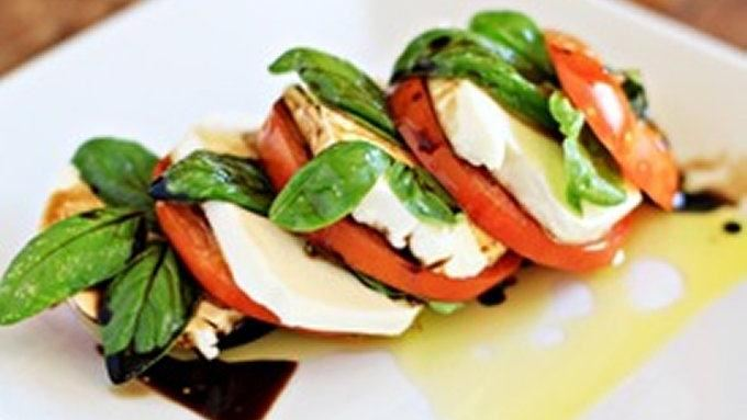 Stacked Caprese Salad with Balsamic Vinegar recipe - from Tablespoon!