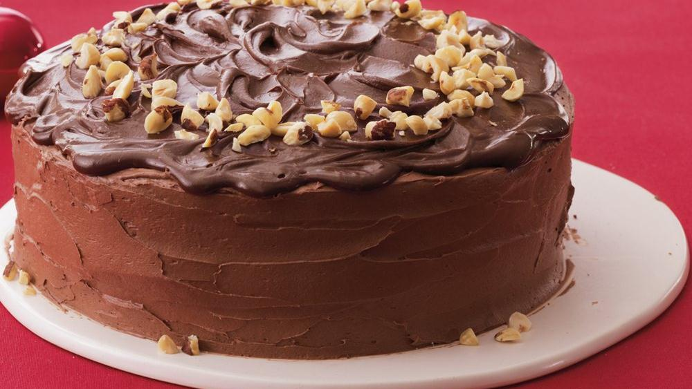 Mocha-Hazelnut Cream-Filled Cake