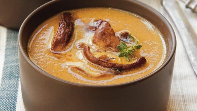 Caramelized Onion and Mushroom Bisque recipe - from Tablespoon!