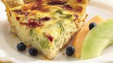 Crab, Broccoli and Roasted Red Pepper Quiche Recipe