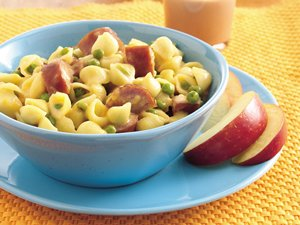 Mac 'n Cheese Shells with Sausage