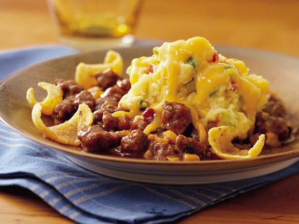 Barbecue Beef and Corn Shepherd's Pie