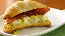 Bacon and Egg Crescent Sandwiches Recipe