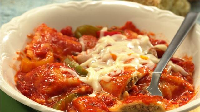Cheesy Baked Ravioli