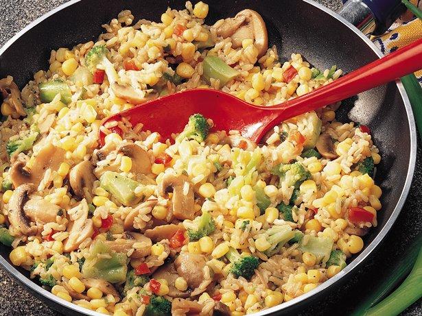 Confetti Brown Rice recipe from Betty Crocker
