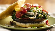 Chicken Bacon Portabella Burgers Recipe