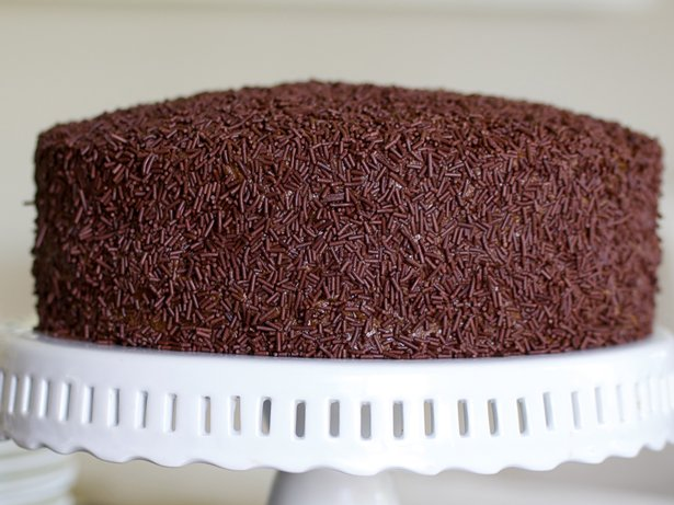 Ant House Cake with Chocolate Mascarpone Frosting