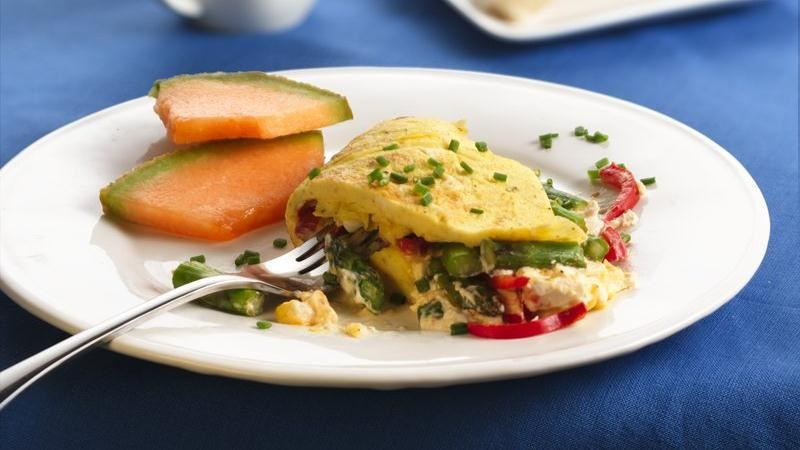 Veggie Cream Cheese Omelets