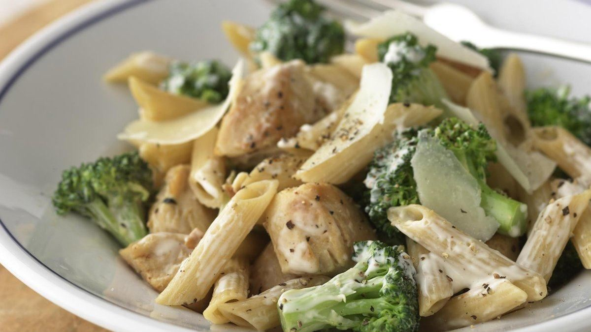 Healthified Chicken and Broccoli-Parmesan Pasta - Life Made Delicious