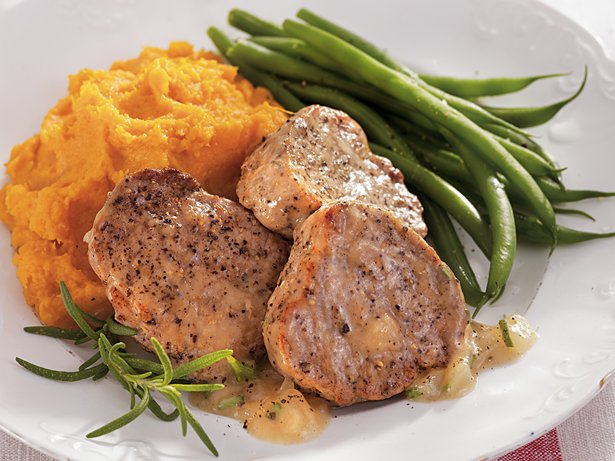 Pork Medallions with Apple Cider Gravy