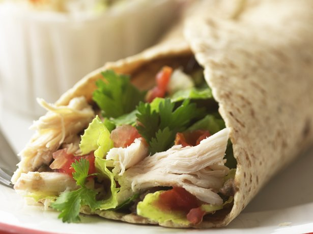 Bean and Salsa Chicken Wrap