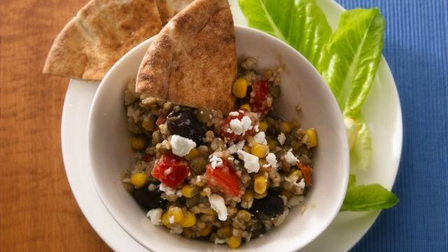 Mediterranean Bulgur and Lentils