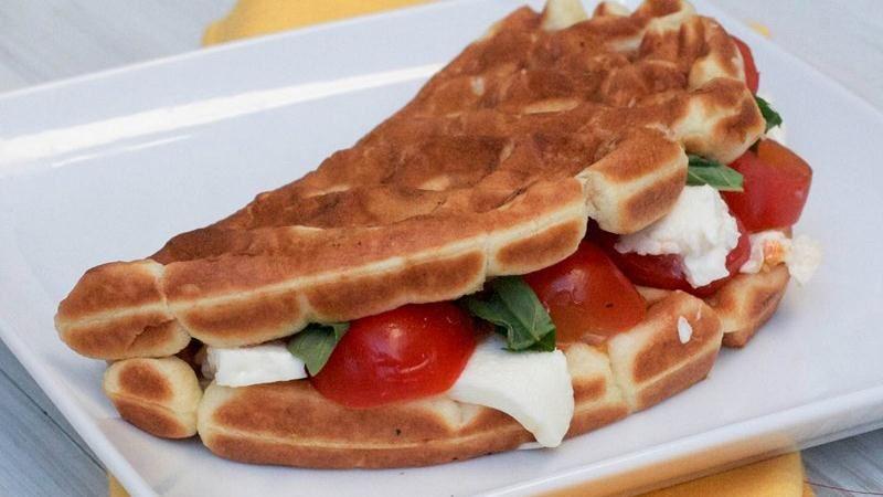 Caprese Waffle Sandwiches