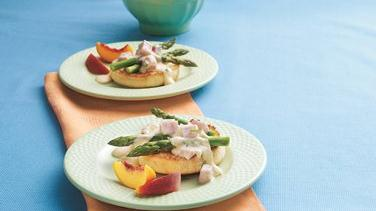 Dijon Ham and Asparagus Muffins