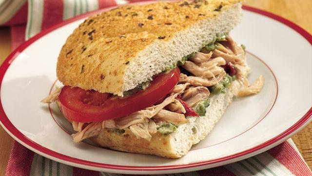 Slow Cooker Tuscan-Style Chicken Sandwiches