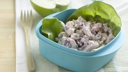 Cherry Chicken Salad in Lettuce Wraps