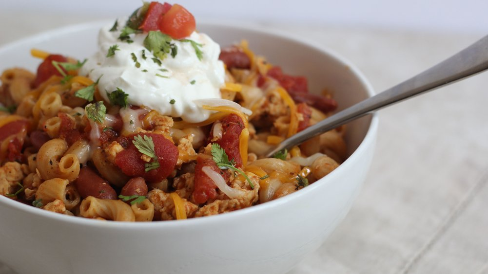 Chicken Taco Chili Mac recipe from Pillsbury.com
