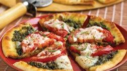 Tomato and Basil Flatbread Pizza (Cooking for 2)