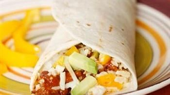 Tex Mex Egg White Breakfast Wrap