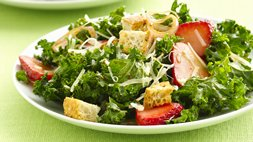 Balsamic Kale and Strawberry Salad