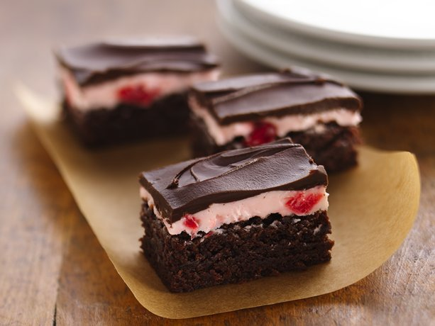 Decadent Cherry Mousse Brownies