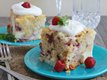Slow Cooker White Chocolate Raspberry and Cream Cake