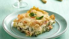 Seafood-Spinach Lasagna Recipe
